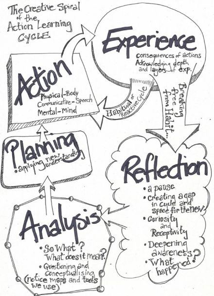 Action Learning Cycle pen drawing